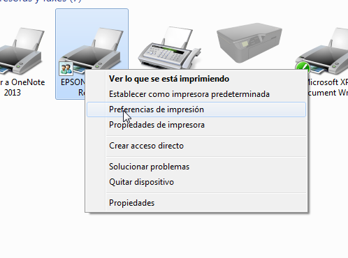 impresora predeterminada