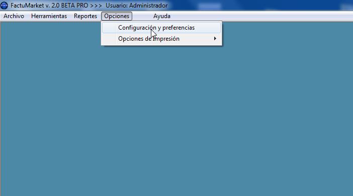 Opciones Configuración y Preferencias