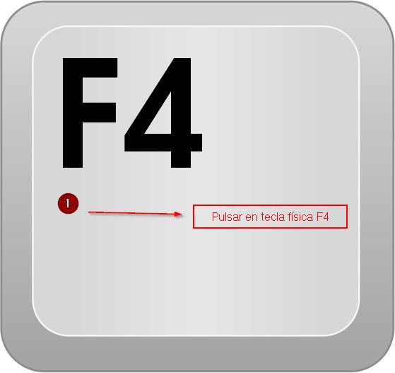 Tecla F4 - eliminar inventarios