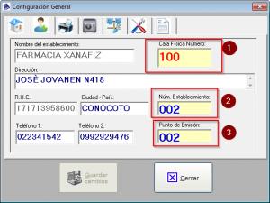 configuracion secuencia factura factumarket 2.1