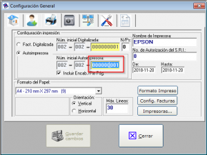 secuencia de facturacion factumarket 2.1