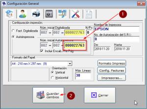configuracion factura factumarket 2.1