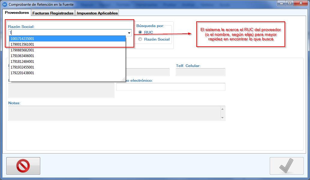 facturacion electronica para pymes - asistente de retenciones en la fuente
